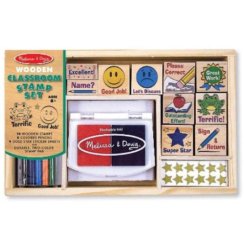 Melissa & Doug Deluxe Classroom Stamp Set