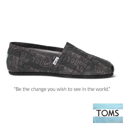 TOMS Be the Change Men's Canvas Classic | Going to College Gifts