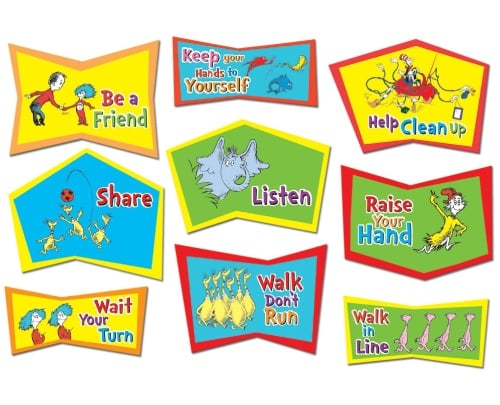 Dr. Seuss Classroom Rules Bulletin Board Sets
