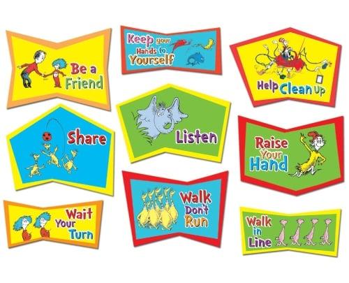 Dr. Seuss Classroom Rules Bulletin Board Sets