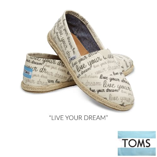 TOMS Live Your Dream Women's Classics | Going to College Gifts