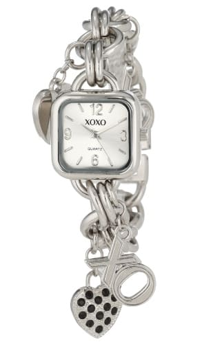 XOXO Women's Charm Bracelet Watch