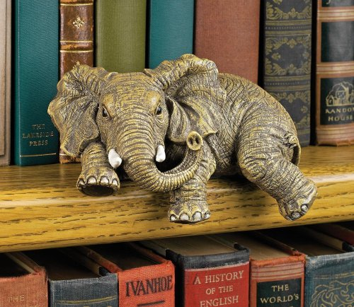 Ernie the Elephant Shelf Sitter Sculpture
