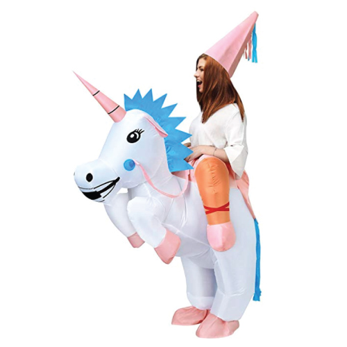 Unicorn Rider Inflatable Costume