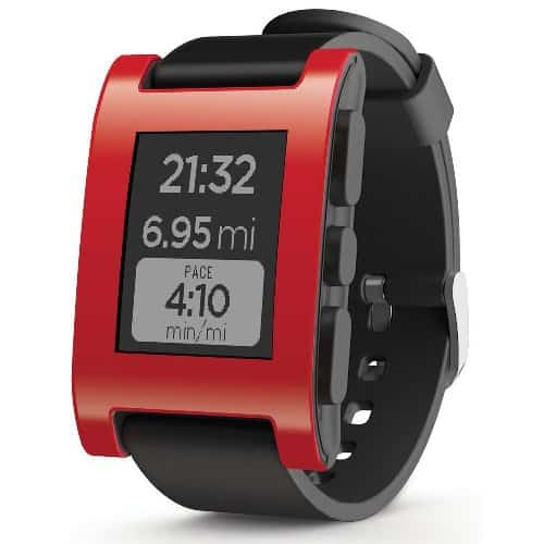 Pebble Smartwatch (red)