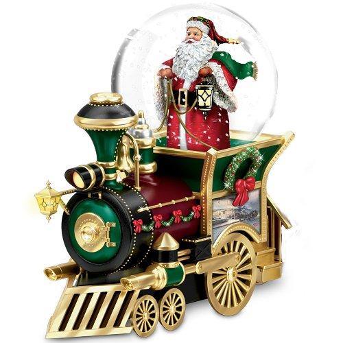 Thomas Kinkade Santa Claus Is Comin' To Town Snowglobe Train