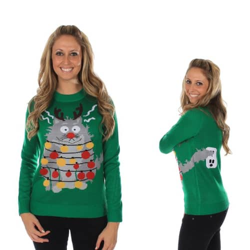 Electrocuted Cat Sweater For Her