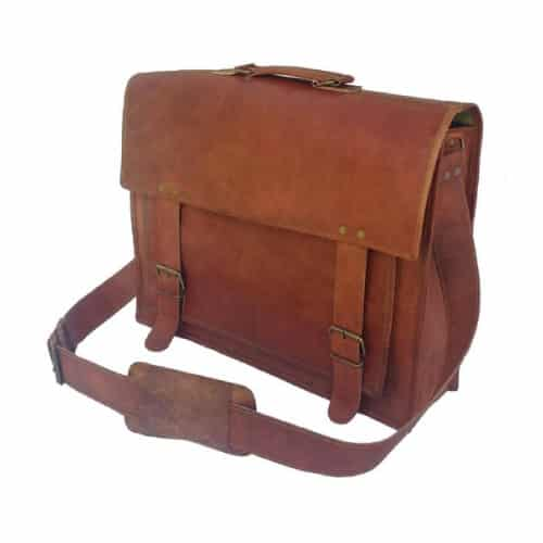 Komal's Passion Handmade Leather Briefcase