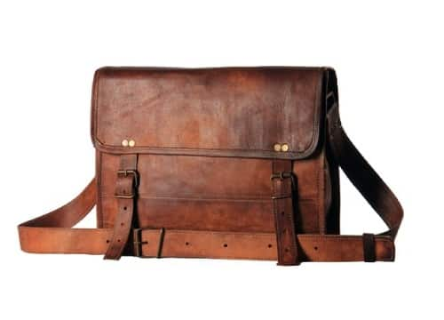 Men Real Leather Briefcase