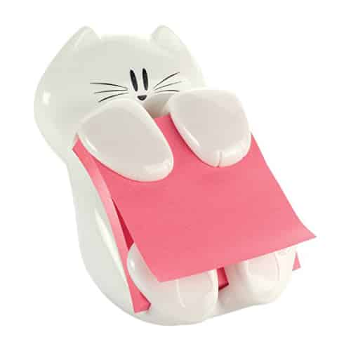 White Cat Post-it Note Dispenser