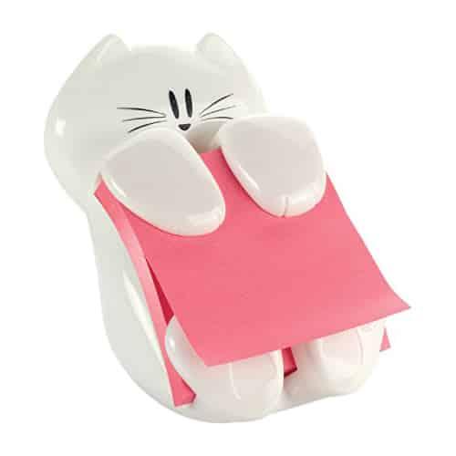 White Cat Post-it Note Dispenser