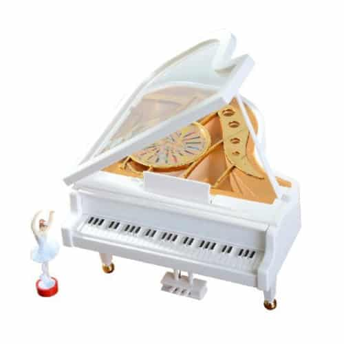 White Grand Piano Music Box
