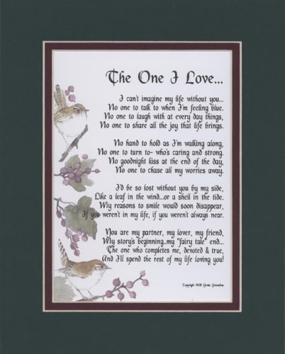 """""""The One I Love"""" Poem"""