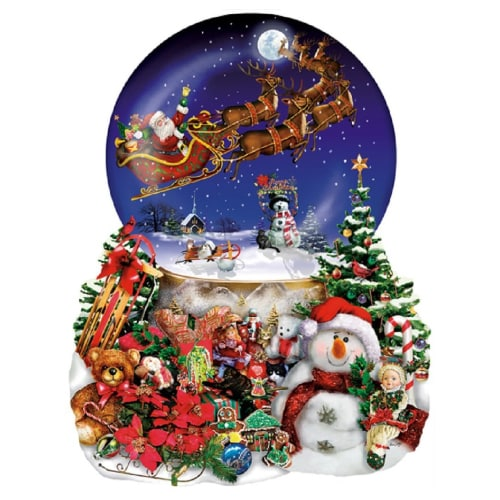 Christmas Snow Globe Shaped Puzzle