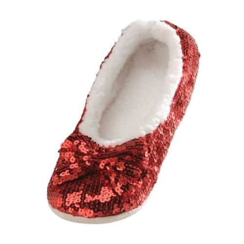 Snoozies Ballerina Sequin Slipper
