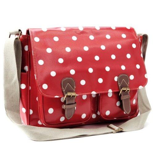 Polka Dots Messenger Shoulder Bag