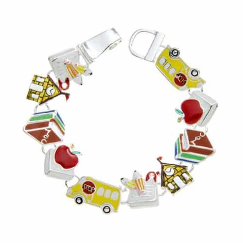 School Charms Bracelet