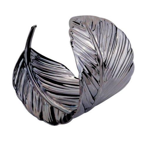 Leaf Cuff Bangle Bracelet