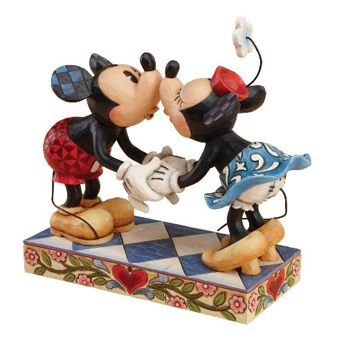 Mickey and Minnie Mouse Kissing Figurine by Jim Shore