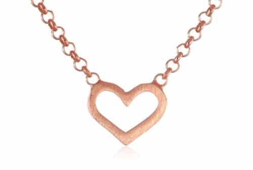 "Dogeared Love ""Hugs and Kisses"" Mini Heart Necklace"