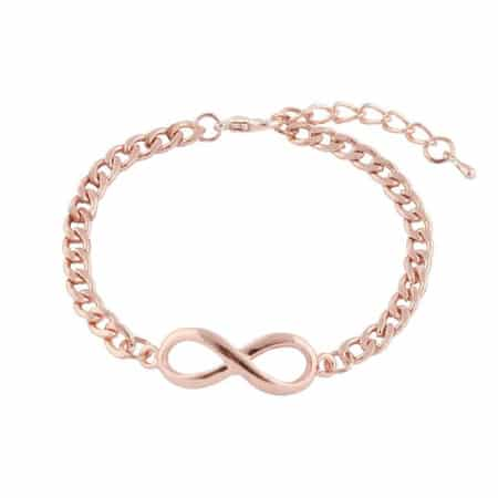 Rose Gold Infinity Chain Bracelet