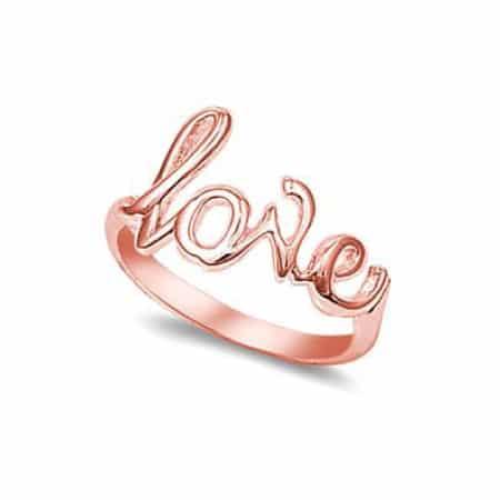 18K Rose Gold Love Ring