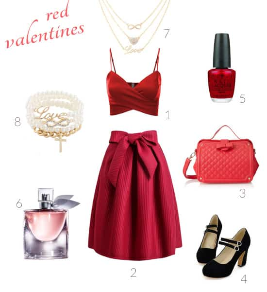 Red Valentines Outfit for Date
