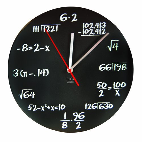 Black Mathematics Pop Quiz Clock