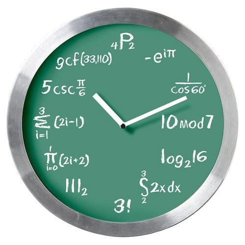 Mathematical Expression Blackboard Wall Clock