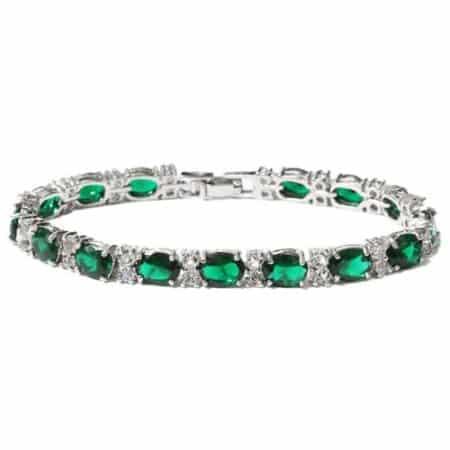 Green Tennis Bracelet