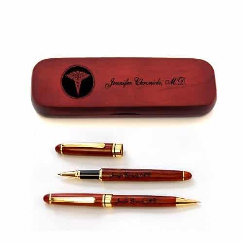 Personalized Wooden Pen Set