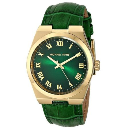 Michael Kors Channing Green Leather Watch MK2356
