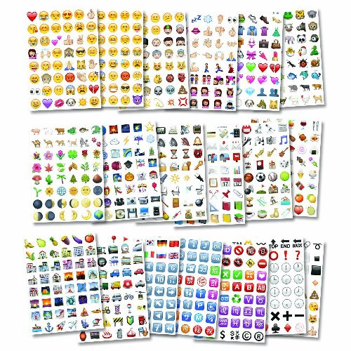 Assorted Pack of 900 Stickers