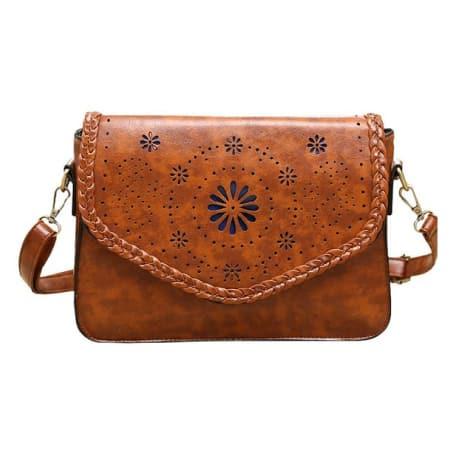 Woven Design Messenger Bag