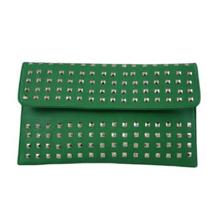 Patzino Fashion Collection Envelope Clutch With Studs
