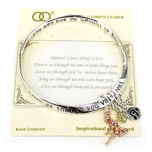 Dance, Love, Sing, Live Inspirational Bracelet