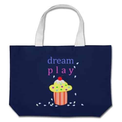 Dream, Play, Cupcake Jumbo Tote