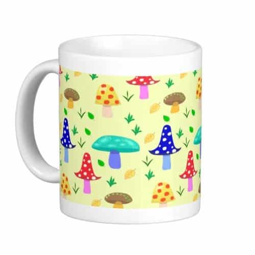 Colorful Mushroom Land Mug