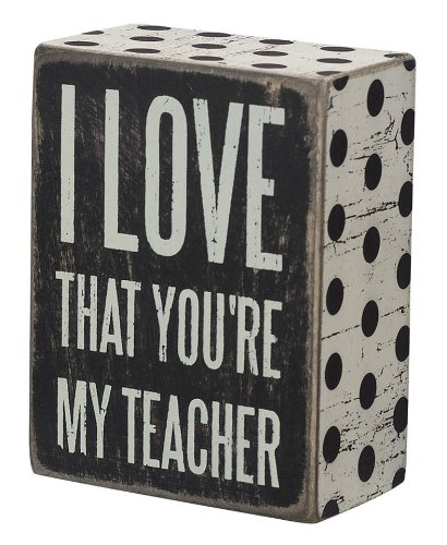 Primitives by Kathy Teacher Quote Box Sign