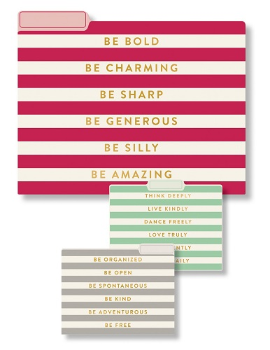 Positive Sayings File Folders