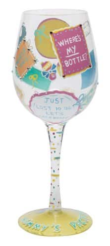 Lolita Love New Mommy Wine Glass