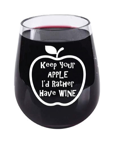 Teacher Appreciation Stemless Wine Glass