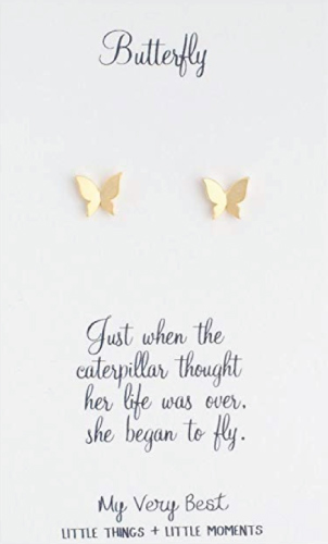 My Very Best Butterfly Stud Earrings
