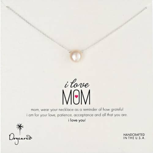 "Dogeared ""Mom"" Pearl Necklace"