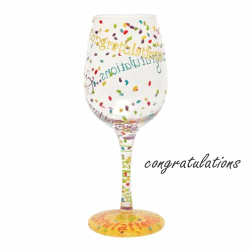 Lolita Love Congratulations Wine Glass