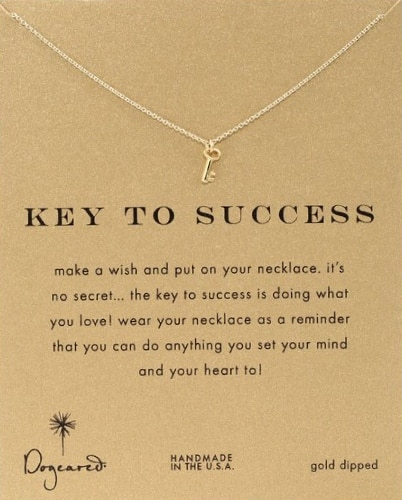 "Dogeared Reminder ""Key To Success"" Pendant Necklace"
