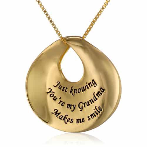 """Grandma"" Circle Pendant Necklace"