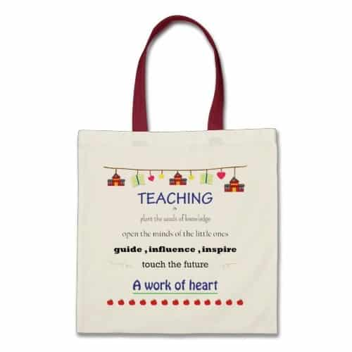 Teaching Is A Work of Heart Tote Bag