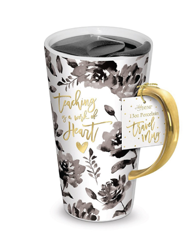 Lady Jayne Ceramic Coffee Travel Mug with Lid