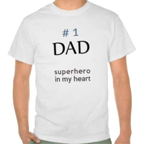 #1 Dad Superhero Shirt